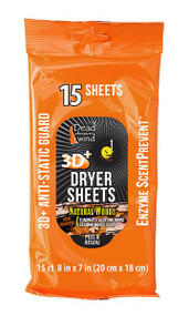 Dead Down Wind Dryer Sheets Natural Woods - 15 Count - 854182006523
