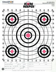 Champion 100 Yard Rifle Sight In Target Orange Bullseye 12 Per Pack - 076683457264