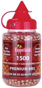 Crosman Copperhead Copper-Coated 4.0 gr. BBs Resealable Plastic Bottle 1500 Count - 028478073708