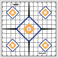 Allen EZ Aim Sight Grid Target 12x12 Inch Twelve Per Package - 026509152033