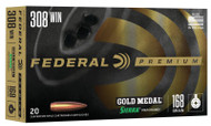 Federal Gold Medal 308 Win - 168 Grain Sierra MatchKing BTHP - 20 Rounds - 029465089337