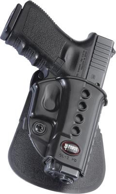 Fobus Evolution 2 Series Paddle Holster For Glock  17/19/22/23/31/32/34/35/Walther PK 380/Kahr CW 40/P45/P40/PM40/CM40 Black  Right Hand