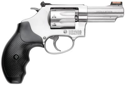 Smith & Wesson Model 63  22 Long Rifle 3 Inch Barrel Stainless Steel Barrel  Frame and Cylinder Front Fiber Optic Sights 8 Round