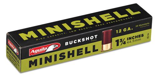 """Aguila Minishells - 12 Gauge - 1.75"""" - #4 Buck (7 Pellets) & #1 Buck (4 Pellets) - 20 Rounds - 640420002538"""