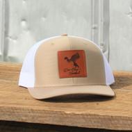 East Coast Waterfowl Khaki / White Leather Woodie Patch Snapback - 400100000311