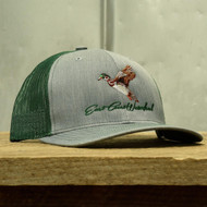 ECW East Coast Waterfowl Heather Gray/Green Mesh Woodie Snapback - 400100000299