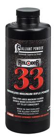 Alliant Reloder 33 Smokeless Magnum Rifle Powder 1lb 1 Bottle - 008307420019