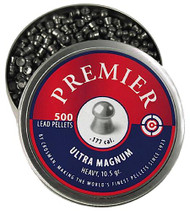 Crosman LUM177 Premier Pellets Heavy Pellets .177 500 Count Silver - 028478125643