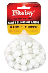 "Daisy Glass Slingshot Ammunition - 1/2"" - 75 Per Pack - 039256883389"