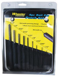 Wheeler Engineering 9 Piece Roll Pin Punch Set with Storage Pouch - 661120045137