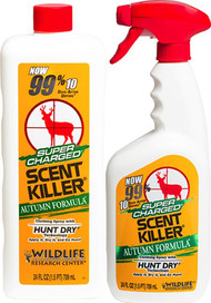 Wildlife Research Center Supercharged Scent Killer Autumn Spray Combo - 24OZ Spray Bottle & Refill - 024641005798