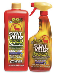 Wildlife Research Center Scent Killer Gold Autumn Formula Spray Combo - 24OZ Spray Bottle & Refill - 024641012796
