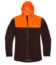 Browning CFS Waterproof Rain Jacket - Brown/Blaze Orange - 023614941811