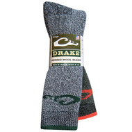 Drake 2-Pack Men's Wool Socks - Size 9-13 - 053146272206
