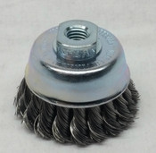Lessmann Cup Brush, Twist Knot, 75mm