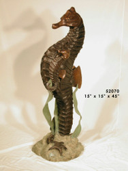 "Sea Horse Fountain - 45"" Design - SALE! - Take an Extra 25% Off - Discount Applied at Checkout"