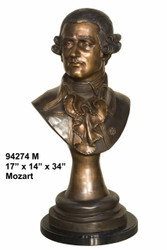 Bust of Mozart with Mable Base