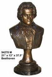 Bust of Beethoven with Mable Base