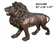 "83"" Bronze Lion - Left"