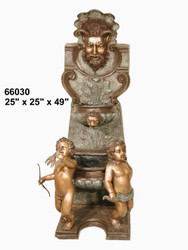 Wall Fountain with Cherubs - SALE!  - Take an Extra 25% Off - Discount Applied at Checkout