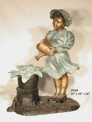 Watering Girl Fountain - SALE! - Take an Extra 25% Off - Discount Applied at Checkout