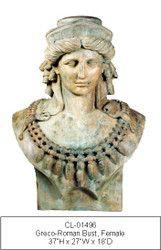 Bust of Greco-roman Goddess - SALE!  - Take an Extra 25% Off - Discount Applied at Checkout