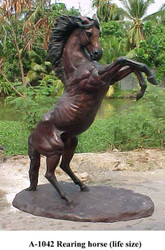"112"" Rearing Stallion"