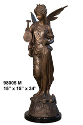 Greco-Roman Fairy with Marble Base - SALE! - Take an Extra 25% Off - Discount Applied at Checkout