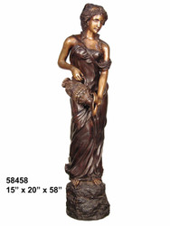 Maiden Pouring Water from a  Watering Urn - SALE! - Take an Extra 25% Off - Discount Applied at Checkout