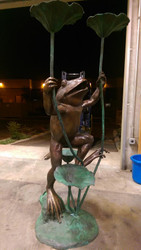 Giant Frog Fountain  - SALE! - Take an Extra 25% Off - Discount Applied at Checkout