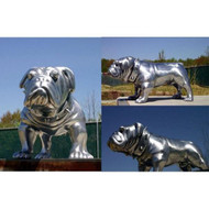 Custom  Bug-eyed bulldog in Silver finish - SALE! - Take an Extra 25% Off - Discount Applied at Checkout