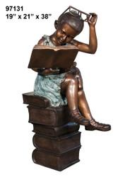 Girl Reading on Books