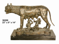 Romulus - Remus - with Marble Base - SALE! - Take an Extra 25% Off - Discount Applied at Checkout