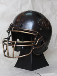 Custom-made Regulation Bronze Football Helmet and Pedestal - Made with Your Logo and Specifications