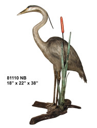 Heron Perched on a Branch  - Special Patina