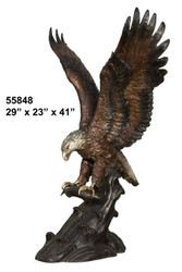 "Eagle Catching Prey - 41"" Design"
