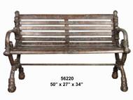 """Bronze Public Bench - 50""""L"""