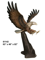Swooping Eagle with Rock Formation Base