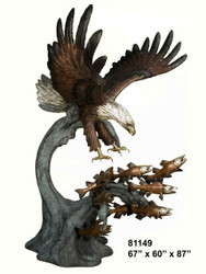 "Swooping Eagle, Catching Fish - 87"" Design"