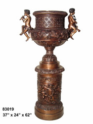 Large Urn with Cherub Handles