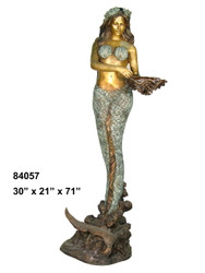Mermaid with Shell, Standing