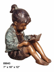 "Girl Reading a Book - 12"" Design"