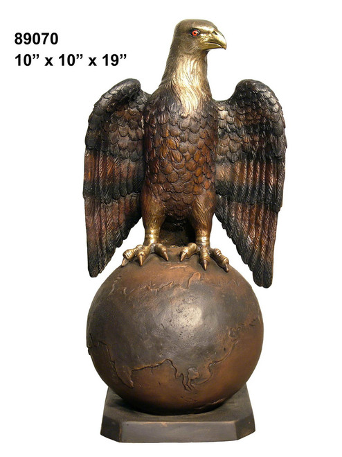 Eagle Perched on a Globe