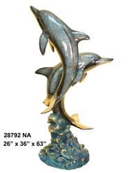 2 Dolphins Fountain - Special Patina, Style NA