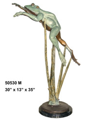 Leaping Frog with Marble Base