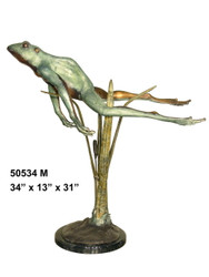 Resting Frog with Marble Base