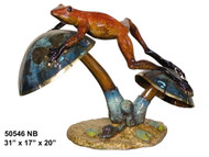 Frog Resting on Mushrooms - Special Patina, Style NB