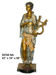 Female Musician - Greco-Roman - Special Patina, Style NA