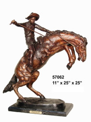 """Remington design, """"Bronco Buster"""" - with Marble Base"""