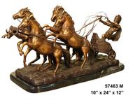 Roman gladiator with horses